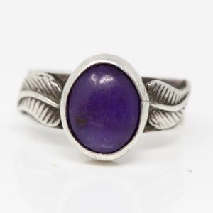 Jewelry - SOUTHWESTERN Sterling Purple Sugilite Leaves Ring